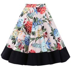 Ohlson Tropical Floral Circle Skirt | Vintage Style Skirts - Lindy Bop