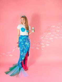 Dresses Able Fashion Baby Girls Mermaid Taild Dress Cosplay Girl Fancy Green Dress Suit Costume Bright In Colour