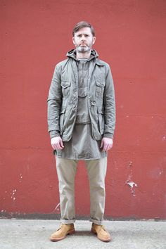 The Bureau Belfast cannot do no wrong, this outfit here is pretty pinnacle. Olive French Twill Ghurka Jacket by Engineered Garments, a killer piece.