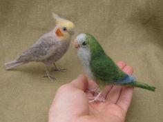 Custom felted birds for Cari  balance due by Ainigmati on Etsy, $105.00