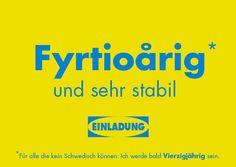 Einladung 40. Geburtstag (Schwedisch)