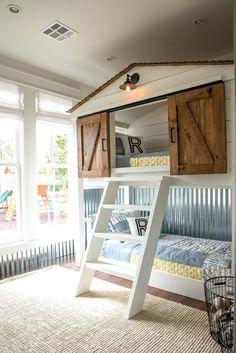 Ein Kindertraum. Hochbett selber bauen. Perfekt in die Dachschräge ...