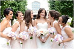 Molly Anne Photography | Newport Yachting Center Wedding Pink bridesmaid dresses