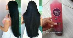 Receita do shampoo de hibisco caseiro para o seu cabelo crescer rapidamente e parar a queda capilar. Veja com o fazer e funciona de verdade. Belle Hairstyle, Belleza Natural, Black Hair, Hair Care, Facial, Hair Makeup, Hair Beauty, Make Up, Shampoo Bomba