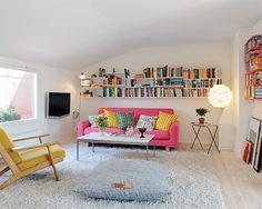 Colorful Sweden Apartment Living Room Design Ideas And Pictures ...