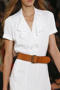 Ralph Lauren Spring 2016 Ready-to-Wear Accessories Photos - Vogue Ralph Lauren Looks, Ralph Lauren Style, White Fashion, Love Fashion, Fashion Show, Fashion 2016, Fashion Trends, Spring 2016, Spring Summer Fashion