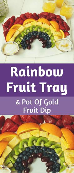 This fruit tray is super easy to make and really versatile. It's perfect for St Patrick's Day, but works for many other occasions as well — a child's birthday party, family reunion, or baptism party for example. #stpatricksday #partytray #fruittray Fruit Recipes For Kids, Healthy Fruit Desserts, Fruit Salad Recipes, Fruit Snacks, Healthy Fruits, Fruit Smoothies, Healthy Snacks, Healthy Recipes, Sweets Recipes