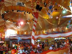 the circus mcgurkus cafe stoo-pendus First Birthday Parties, First Birthdays, Carnivals, Train Rides, Dream Vacations, Merlin, Dolphins, Places Ive Been, Orlando