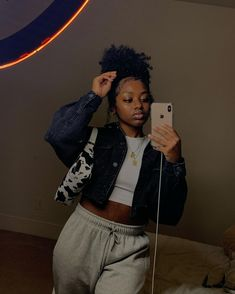 Dyed Natural Hair, How To Grow Natural Hair, Natural Hair Styles, Black Girl Aesthetic, Aesthetic Fashion, Aesthetic Clothes, Swag Outfits For Girls, Stylish Outfits, Cute Outfits