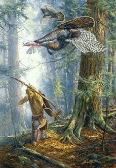 Hit or Miss by Jack Paluh kp American Indian Art, Native American Indians, Hunting Art, Turkey Hunting, Woodland Indians, Westerns, Native American Pictures, Art And Hobby, Historical Art