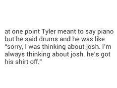 lol I ship it Tyler Joseph josh dun joshler twenty one pilots