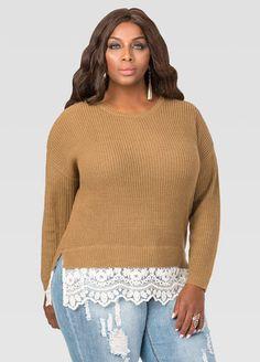 Lace Hem Pullover Sweater Lace Hem Pullover Sweater
