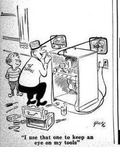 Tv repair vintage funny cartoon