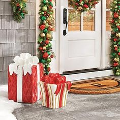 Present with Bow  Present with Bow (141850) $79.00 - $149.00 Write a review Be the first to write a review Be the first to ask a question.  Dazzle passersby, year after year, with our exclusive, all-weather Christmas Presents with Bows. Elaborate and realistic, each is crafted from high-quality ...