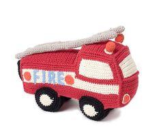 Red Crochet Fire Truck