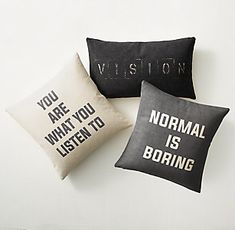 holy moly, there's a 'restoration hardware teen'??? Decorative Pillows | RH TEEN