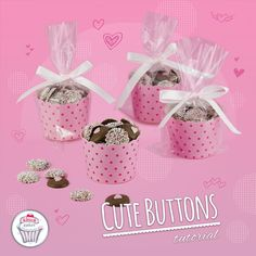 Cute buttons tutorial! Our latest tutorial for valentine's day. So much love in this little chocolate buttons. Yummy ! Great to offer and quick to do.