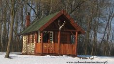 Tamas recently sent some new photos of his finished cordwood cabin. Enjoy them and thank you Tamas for sharing. His logs are pine cut from the surrounding forest and he did the work on weekends. …
