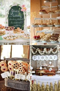 Tasty pie bars | See more great wedding food ideas on http://www.onefabday.com