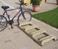 Rv net open roads forum travel trailers bike rack may be good for a scarf rack home - Portabici in legno ...