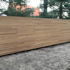 Afrormosia Schutting profiel FILIP Overpelt (BE) | Paulussen hout