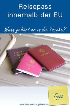Muss ich den Reisepass innerhalb der EU mitnehmen? Blog, Self, Passport, Travel, Dime Bags, Tips, Blogging