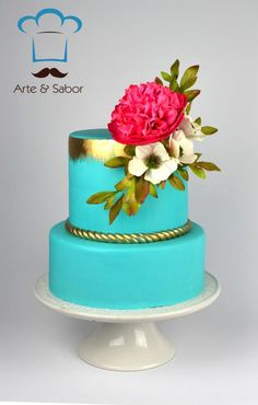 Turquoise Vintage - Cake by arteysabor