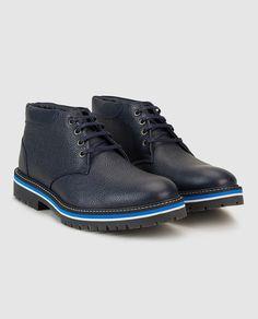 Botas de hombre de piel azules