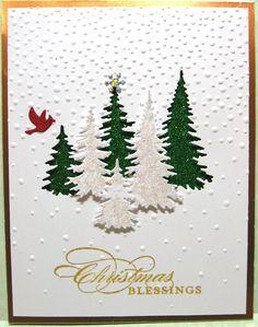 Stamped Christmas Cards, Homemade Christmas Cards, Christmas Cards To Make, Christmas Greeting Cards, Christmas Greetings, Homemade Cards, Holiday Cards, Christmas Scrapbook, Stamping Up Cards