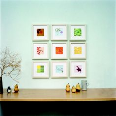 turning calendar art into wall art