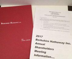 Berkshire Hathaway 2016 Annual Report 2017 Shareholders Meeting Warren Buffett  | eBay