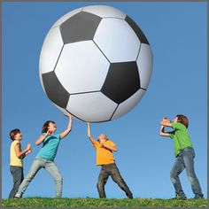 The fun possibilities of this giant soccer ball are endless!