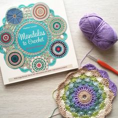 Started this mandala from the gorgeous book Mandalas to Crochet by @byhaafner when I was out of town and looking forward to finding time to finish it. You should check out the book if you haven't already - so many stunning patterns! by mobiusgirl