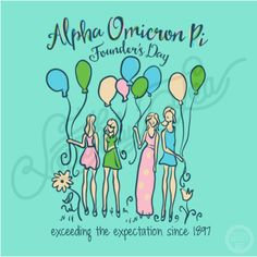 Alpha Omicron Pi | AOII | Founders Day | Exceeding the Expectation Since 1897 | Hand Drawn T-Shirt Design | South by Sea | Greek Tee Shirts | Greek Tank Tops | Custom Apparel Design | Custom Greek Apparel | Sorority Tee Shirts | Sorority Tanks | Sorority Shirt Designs