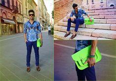Fluo Bag (by Davide Perella) http://lookbook.nu/look/3636151-Fluo-Bag