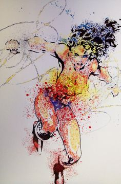 Hey, I found this really awesome Etsy listing at https://www.etsy.com/listing/200467848/wonder-woman-splatter-art-11x17-print