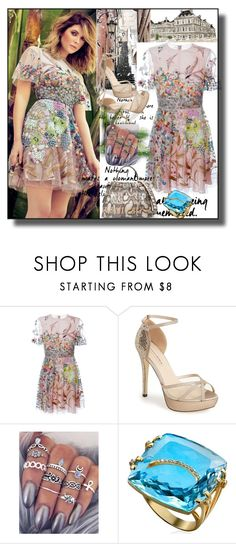 """set 102"" by fahirade ❤ liked on Polyvore featuring Valentino, Menbur and Fendi"