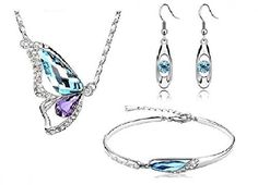 Crystal Wings Breaking Cocoon Butterfly Statement Set Austrian Crystal, White Gold Plated, http://www.amazon.co.uk/dp/B00XLCUMW0/ref=cm_sw_r_pi_awdl_hRwLvb0XB2G38