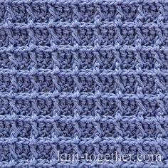 Crochet Waffle Stitch Pattern