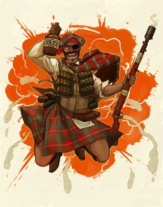 1920s Demoman Because Lord DeGroot demanded proper Scottish attire :) Grenade launchers proper were not used until WW2. During WW1, soldiers used their rifles to launch grenades with a cup-like...