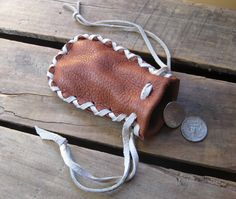 simple leather coin purse