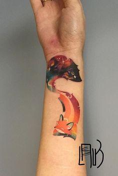Lesha Lauz fox tattoo
