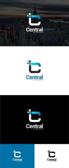 Central - Letter C Logo Template. Logo Templates. $30.00