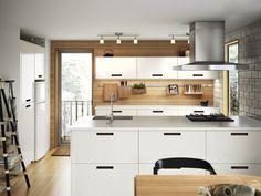 cuisine parallèle IKEA blanche