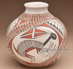 Southwest Painted Mata Ortiz Pottery - Rabbit