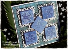 by L'Universo di Eu - Hero Arts Snowflakes with Spellbinders