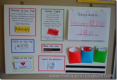 circle time ideas - shape of the day, fe