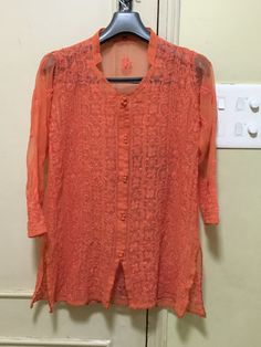 Orange Lucknow Indiankala4U Ladies ethnic by Indiankala4u on Etsy