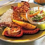 Shrimp and Mango Skewers with Guava-Lime Glaze