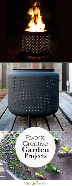 Favorite Creative Garden Projects • Check out some of TGG's favorite and most creative garden ideas & tutorials including a old washing machine tub turned into a cool fire pit!